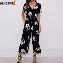 Fashion Overalls For Women Romper Summer Jumpsuit Plus Size V Neck Beachwear Pri