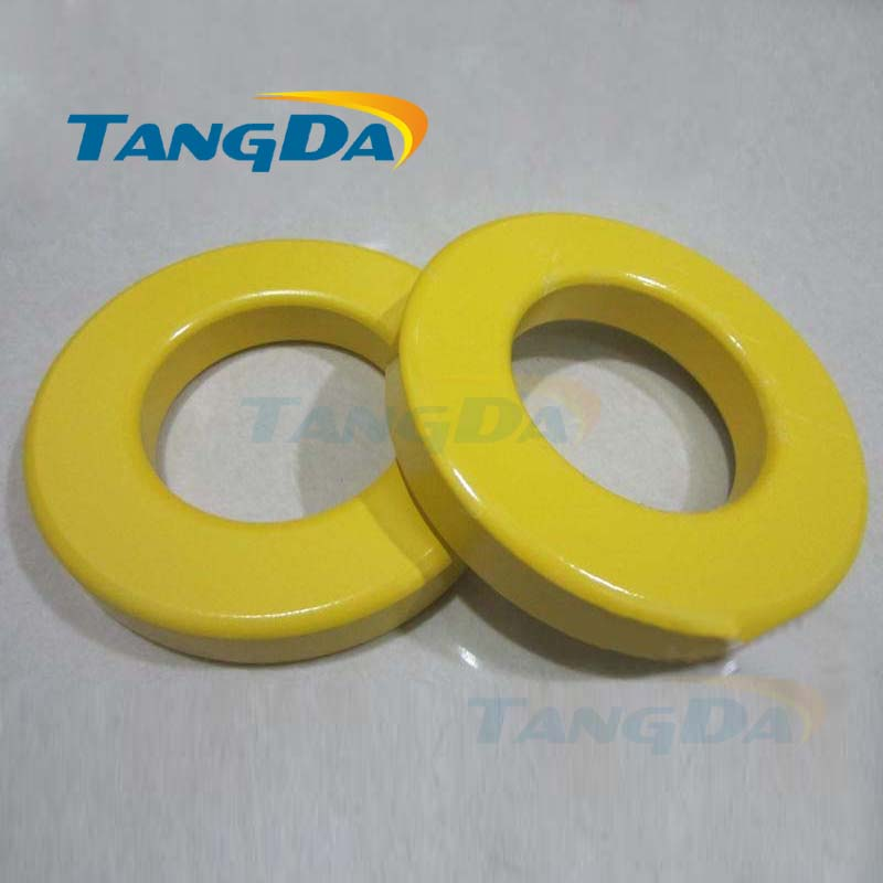 Tangda Iron powder cores T520-26 OD*ID*HT 132*78*20.3 mm 149nH/N2 75ue Iron dust core Ferrite Toroid Core toroidal yellow white пижама раздельная