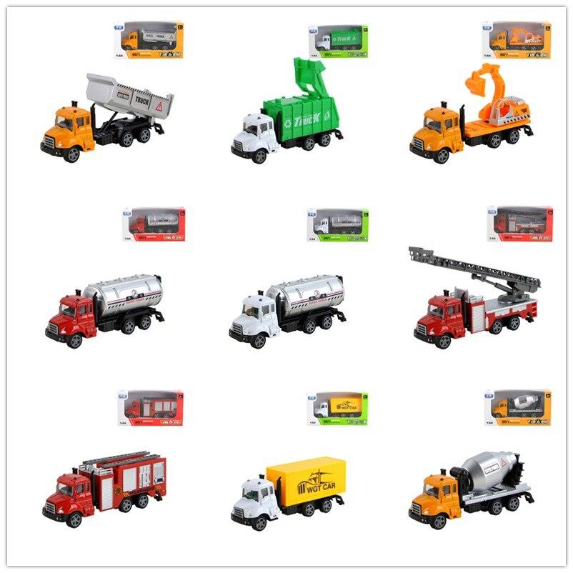 Children Engineering Alloy Cars Toy Imitation Inertial Fire Truck Engineering Car Children Toy Metal Excavator Kids Gifts