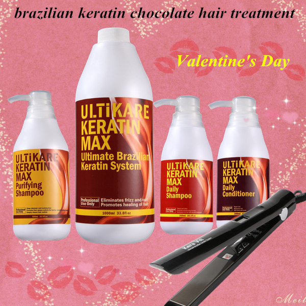 Ulitikare Brazilian Keratin Chocolate Hair Treatment Set Purifying Shampoo+daily  Shampoo And Conditioner For Salon