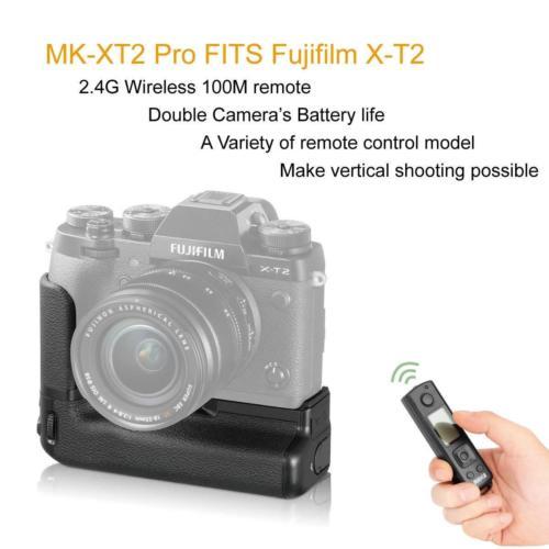 Image 2 - JinTu MK XT2 Pro Battery Grip +2.4G Wireless Remote for Fuji Fujifilm X T2 XT2 as VPB XT2 SLR Camera W/ 2 step shutter button-in Battery Grips from Consumer Electronics
