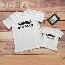 Babyinstar Cute Mustache Print Family T-shirt Big Man Little Man Dad Son Matching Clothes Fashion 2018 New Family Look