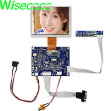 5 inch ZJ050NA-08C lcd screen display replacement 640x480 lcd panel with VGA AV Controller board KYV-N2 V6  dvi vga lcd controller board 5 zj050na 08c replace at050tn22 640x480 lcd screen