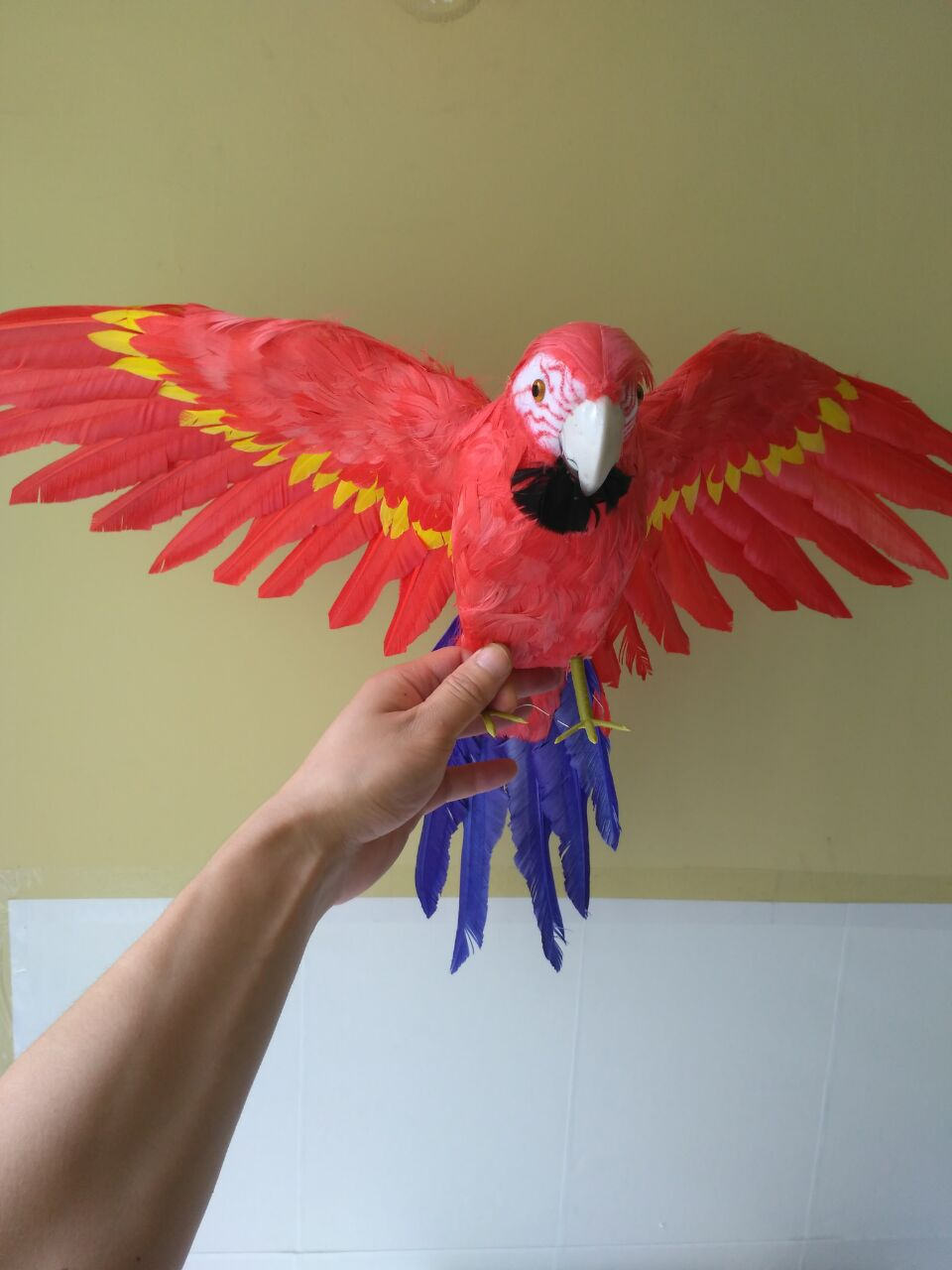 40x60cm spreading wings parrot model,foam&feathers colorful parrot handicraft,party prop,home garden decoration,gift d121040x60cm spreading wings parrot model,foam&feathers colorful parrot handicraft,party prop,home garden decoration,gift d1210