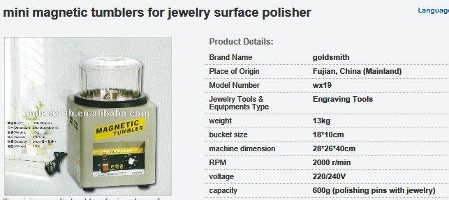 kt185 capacity 0.6kg Magnetic Tumbler,jewelry Polishing Machine,tumbling machine, Jewelry Making Tools diamond polishing machine цена