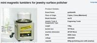 kt185 capacity 0.6kg Magnetic Tumbler,jewelry Polishing Machine,tumbling machine, Jewelry Making Tools diamond polishing machine