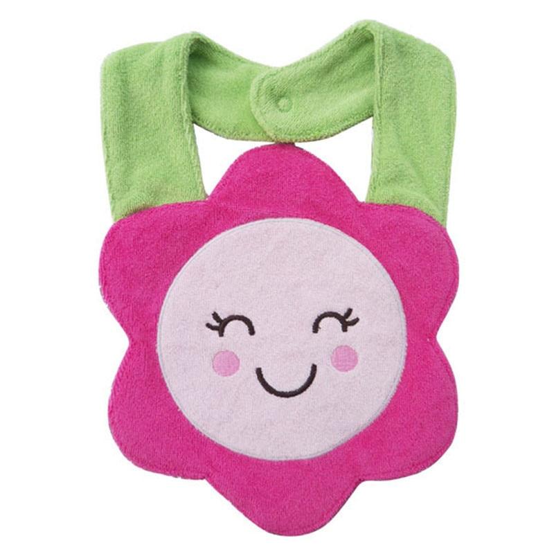 Kids Waterproof Cartoon Lunch Bibs Infant Animal Saliva Towel Bib Sunflower OCT2