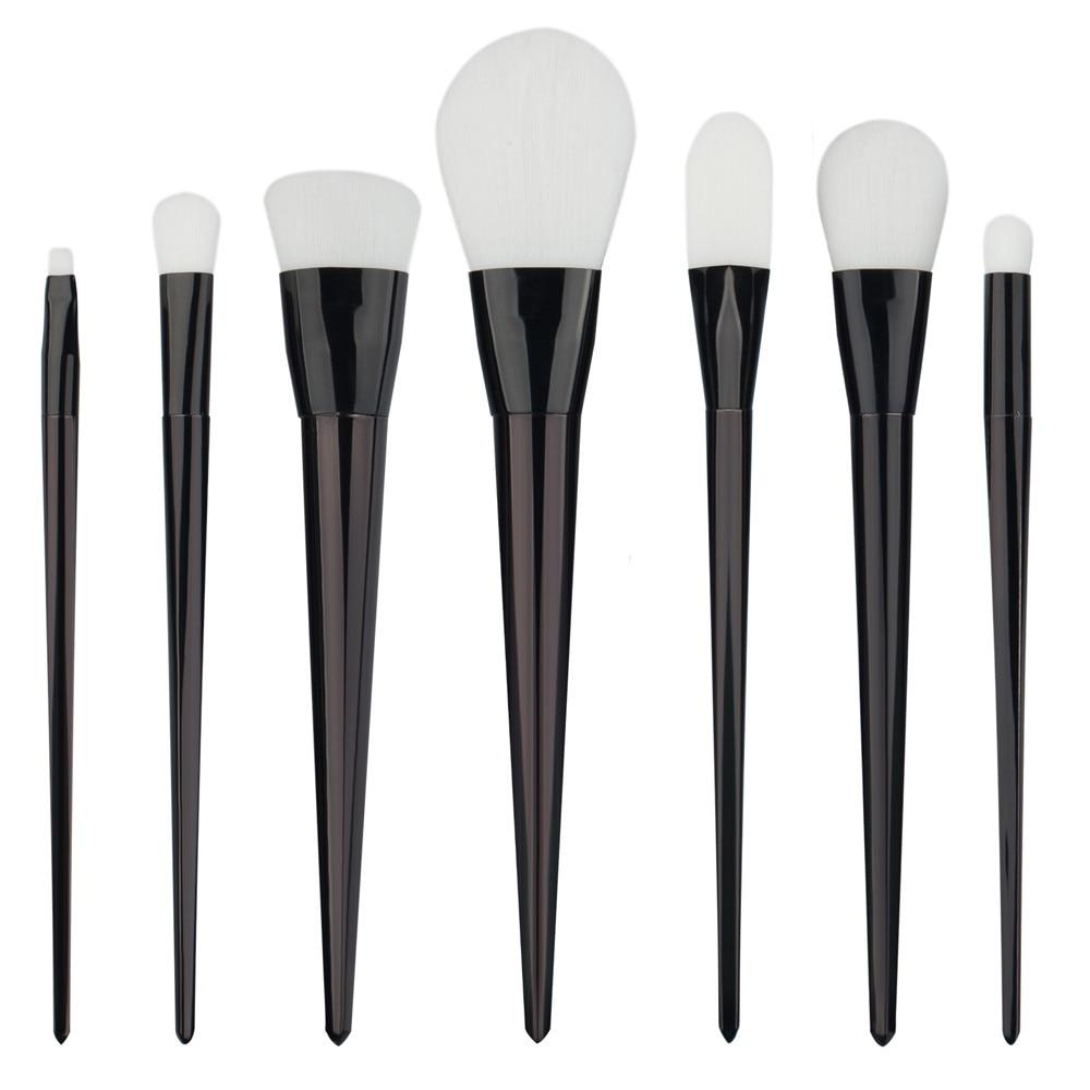 7PC/1set Professional new Black makeup brushes tools set Make up Brush tools kits for Facial Make Up Cosmetic Brushes ju253