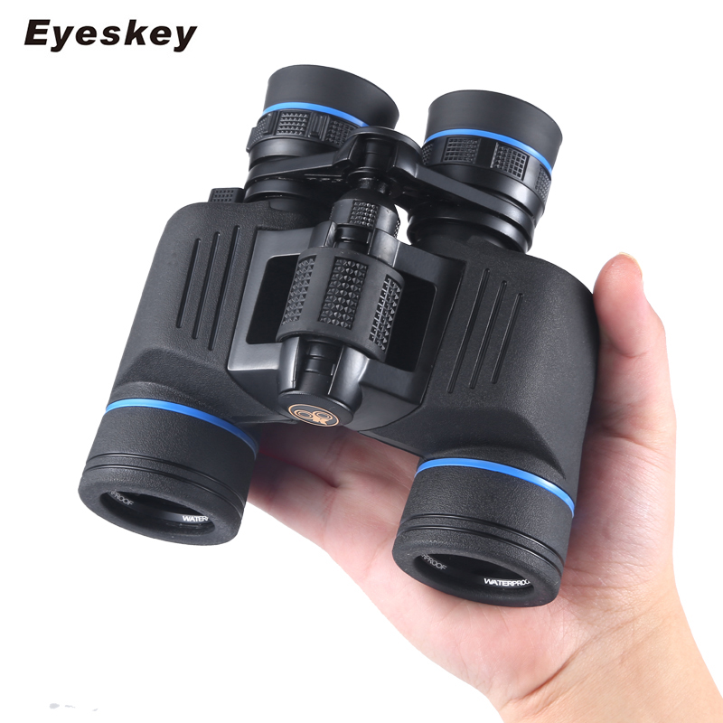 Eyeskey New High Power Zoom Binoculars Porro BAK4 Prism System Large Eyepiece Wide Angle Binocular Telescope for Hunting Camping