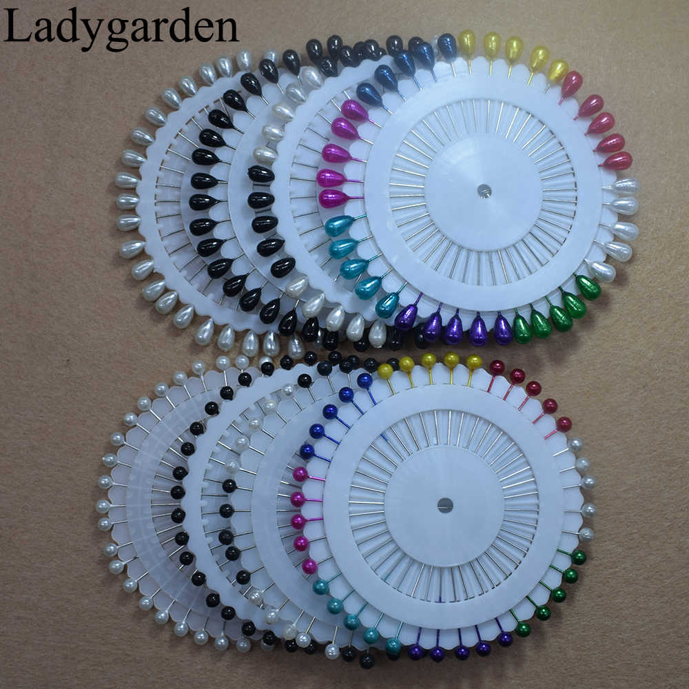 40Pcs/set Multicolor Round Pearl Head  Dressmaking Pins Fixed Needles Wedding Decorative Weddings Corsage Sewing Fixed Tool