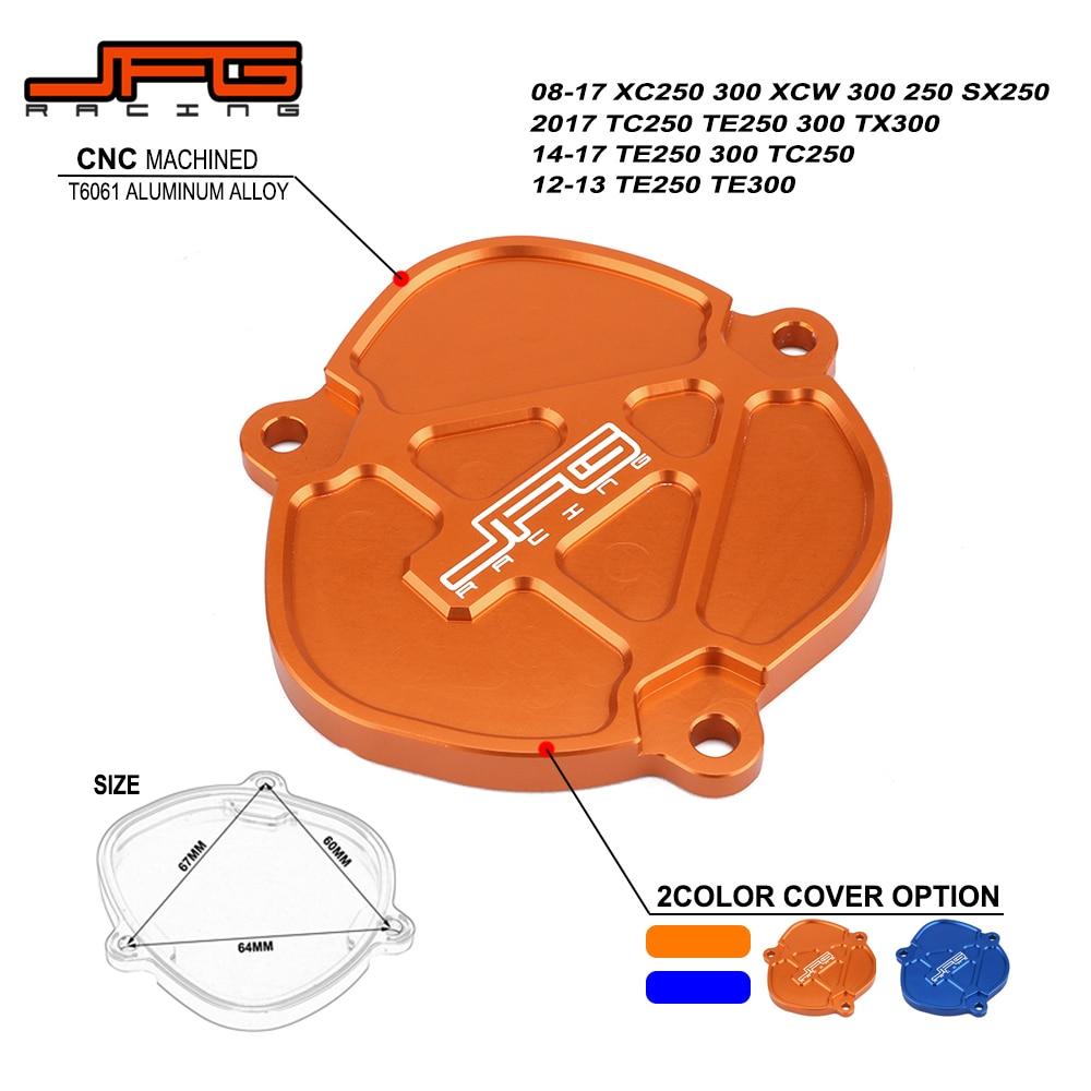 Motorcycle CNC Aluminum Orange & Blue Cylinder Control Cover For KTM SX250 XCW250 XC250 XC300 XCW300 TE TC TX 250 300