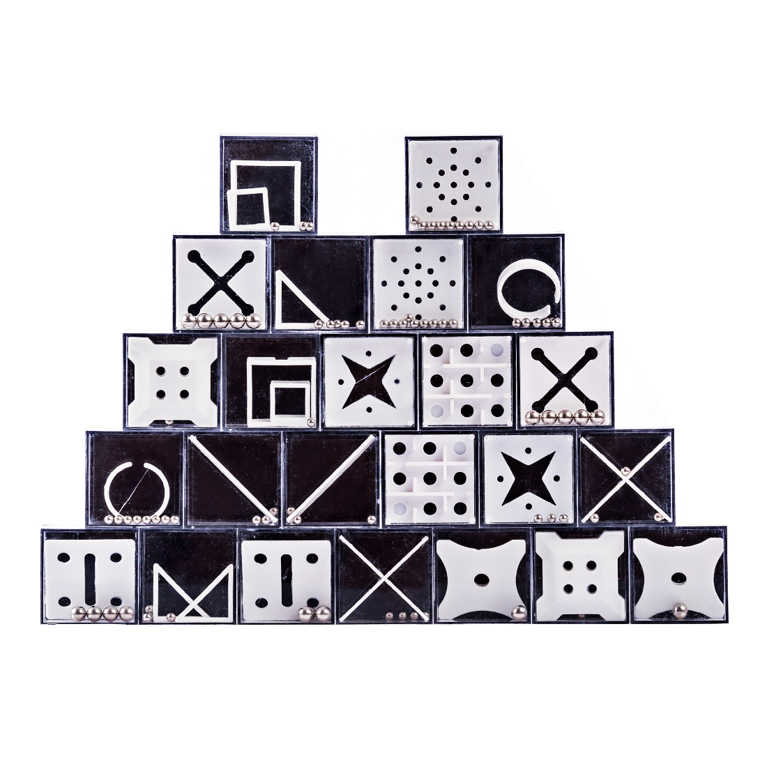24Pcs Balance Maze Game Puzzle Boxes With Steel Ball Brain Teaser Educational Toys Gift Decompression Toy With For Kids Adults