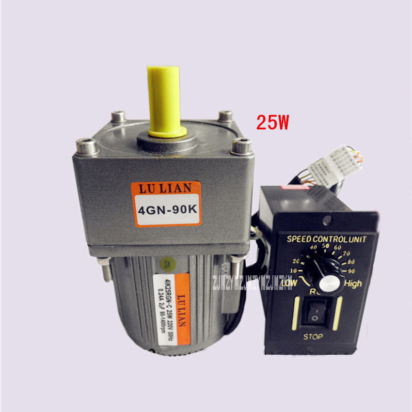 220V/110V 25w  Gear Variable AC  Speed Motor,Speed Motor Controller,Vertical Single-phase Geared  AC Motors + Ordinary Governor cnbtr low speed electric geared motors dc12v 2 5rpm metal gearbox motor