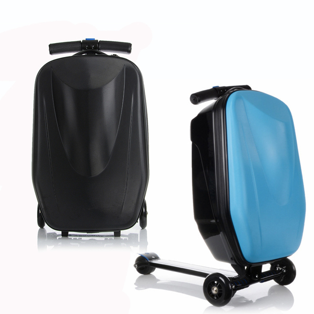 Letrend Men Skateboard Business Rolling Luggage Spinner Students Trolley Suitcases Wheel Women Travel Bags Laptop Bag