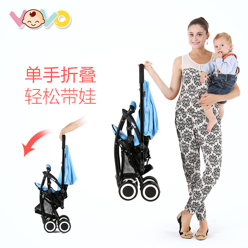 Baby stroller can sit portable ultra-light portable two-way folding easy baby small umbrella
