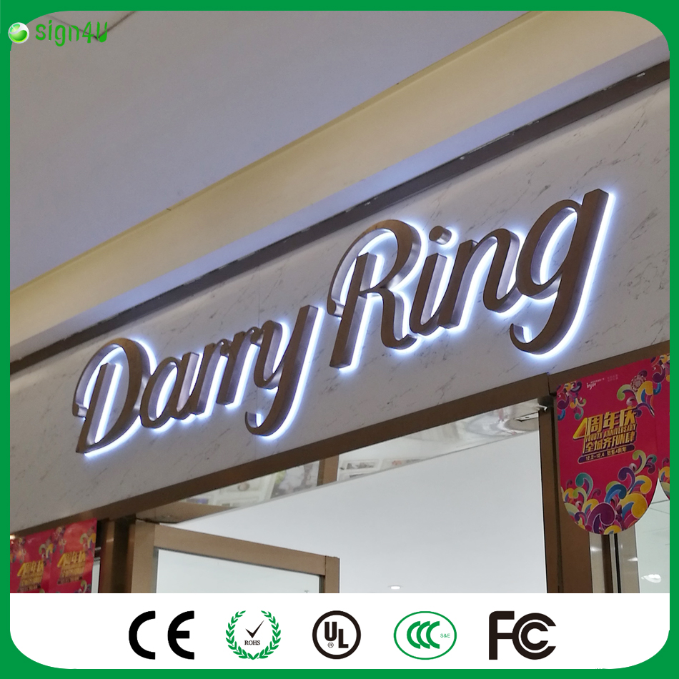 ФОТО factory customized outlet outdoor stainless steel backlit led letter sign