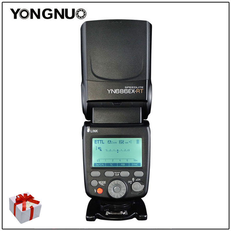 YONGNUO YN686EX RT Lithium Speedlite ETTL Wireless 2 4G HSS YN686 With Lithium Battery For Canon