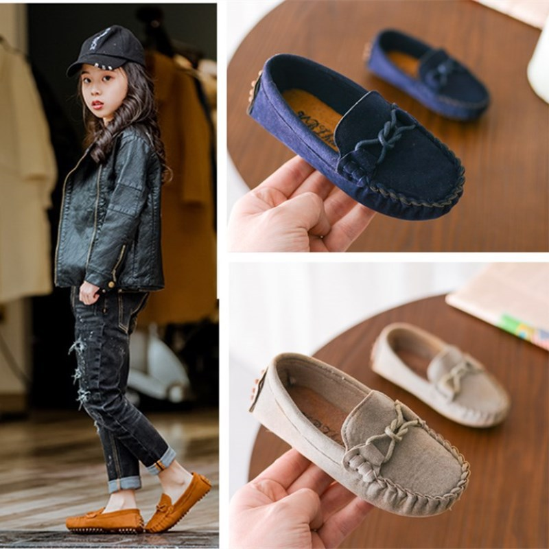 Kids Loafers Shoes Boys Girls Flat Sneakers Baby Slip-on Soft Light Children Casual Shoes Toddler Breathable Shoes Flock LeatherKids Loafers Shoes Boys Girls Flat Sneakers Baby Slip-on Soft Light Children Casual Shoes Toddler Breathable Shoes Flock Leather