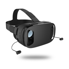 3D VR Box Glasses W/earphones Games&Movies 42mm Optical lens Virtual Reality Headset for 4.6-6inch IOS&Andriod Smart phone game