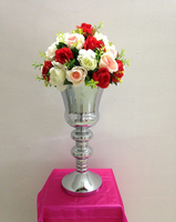 New arrival 48cm 19inch Express free shipping 10pcs/lot silver wedding table centerpiece vase wedding decoration