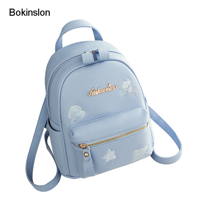 4ef4fdee80 Bokinslon Backpacks Bags Woman Cute PU Leather Mini Bags For Women  Jellyfish Embroidery Ladies Popular Backpack