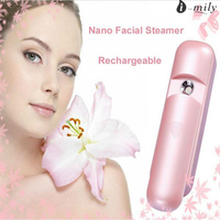 Pink Portable Nano Face Mister Spray Handy Skin Facial Mist Steamer For Eyelashes USB Rechargeable Moisturizing