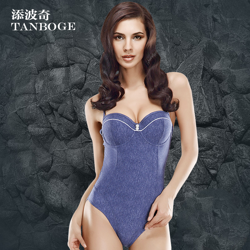 TANBOGE One Piece Swimsuit Bathing Suits Swimwear Conservative Soft Denim Swimsuits Monokini Women's Swimming Suit - Foshan Xiang Yu Tak Garments Co., Ltd. store