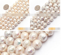 Hot sell >@@ N370 Natural Round Edison reborn keishi baroque freshwater pearl beads strand 15 Top quality free shipping