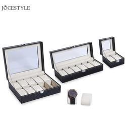2/6/10 Grids PU Leather Watch Box Case Professional Holder Organizer for Clock Watches Jewelry Storage Boxes Case Display