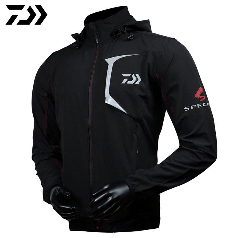 Brand DAWA DAIWA Fishing Clothes Hooded Waterproof Coat Anti-UV Quick-Drying Breathable Man Clothing цены онлайн