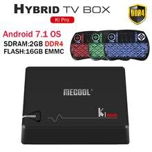 MECOOL KI PRO DVB Android 7.1 smart TV Box DVB-T2/DVB-S2/DVB