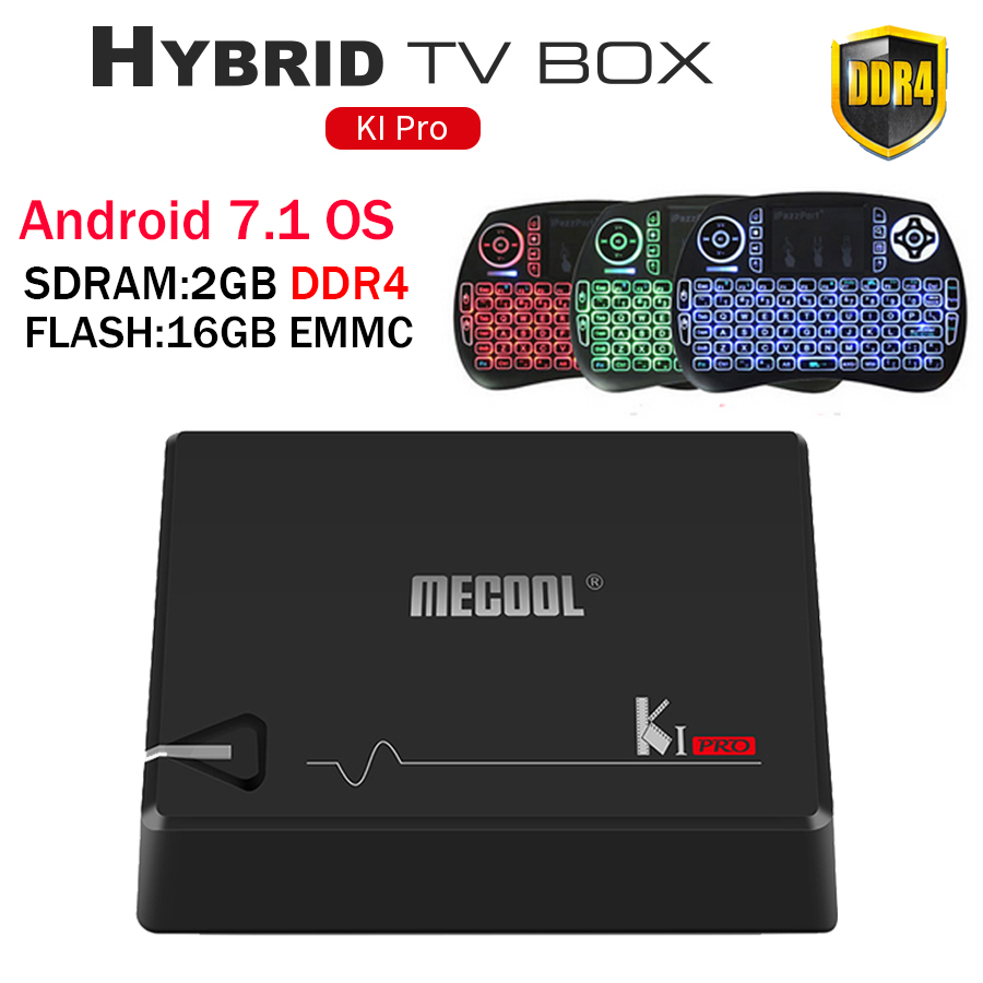 MECOOL KI PRO DVB <font><b>Android</b></font> 7.1 smart TV <font><b>Box</b></font> DVB-<font><b>T2</b></font>/DVB-S2/DVB-C Amlogic S905D Quad 2GB + 16GB Unterstützung Set Top <font><b>Box</b></font> PK KII PRO <font><b>box</b></font> image