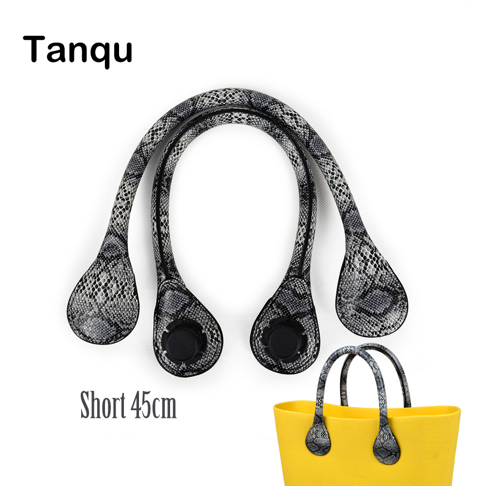 TANQU Short Faux Snakeskin Snake Skin Handle For Obag Serpentine PU Leather Handle Strap For O BAG Ochic O Chic Accessory