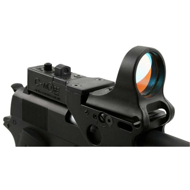 Black C More Red Dot Rifle Pistol Sight For Ipsc