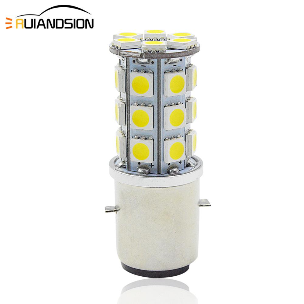 1x 1.2W/3.5W Motorcycle BA20D H6 4300K Headlight High-Low Dual Beam Light Lamp Bulb 6V Motorcycle Auxiliary Lights Led Headlight
