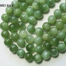 Meihan Commercio Allingrosso (43 pz/set/52g) naturale 9 9.5mm A + Russo giadeite rotondo liscio perline allingrosso di pietra