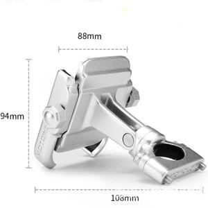 Image 3 - Alüminyum alaşımlı bisiklet motosiklet gidon montaj tutucu 360 rotasyon telefon tutucu iPhone 11 Pro Max evrensel Samsung S20