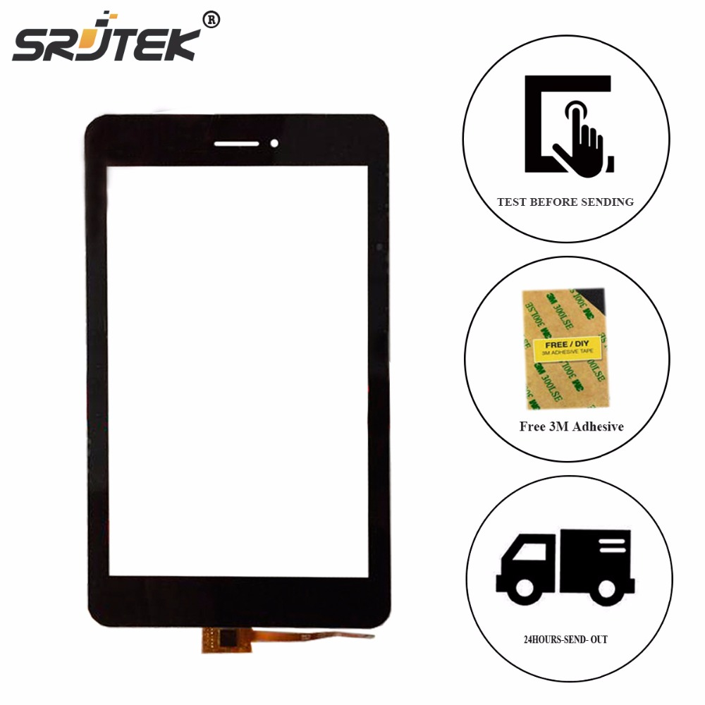 Srjtek New Touch Screen 7 inch For Cube T7 T7GT Tablet PC 070656R01-V1 Touch Panel Digitizer Glass Sensor Black car charger for tablet pc cube u10gt u10gt2 aoson m19 more black dc 9v