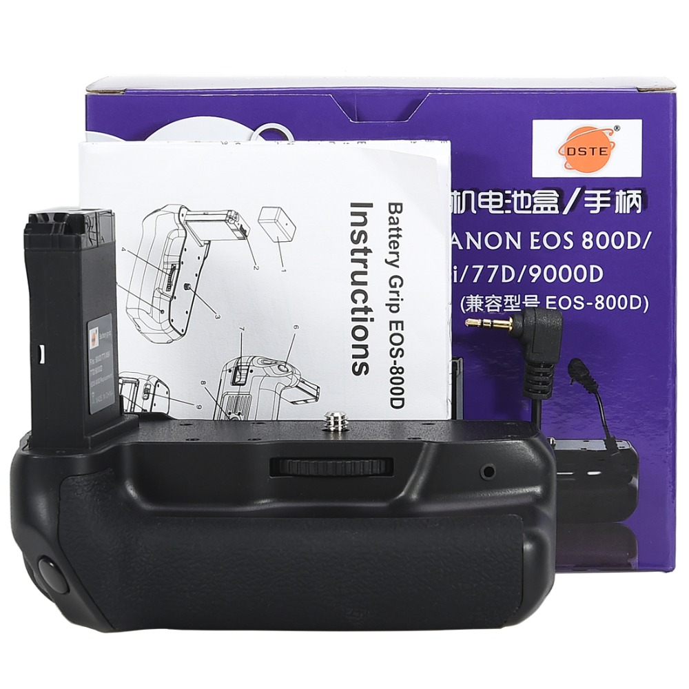 DSTE Profeesional Multi Power Battery <font><b>grip</b></font> pack holder for Canon EOS 800D/ T7i/<font><b>77D</b></font>/Kiss X9i/9000D DSLR camera work with LP-E17 image