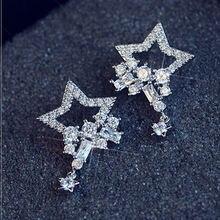 Женские серьги гвоздики farlena модные с кристаллами из циркония