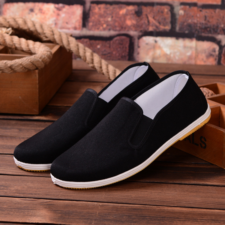 Black High Quality Breathable Wing Chun Kung Fu Shoes Bruce Lee Vintage Chinese Tai Chi Cotton Cloth Shoes Martial Arts Footwear