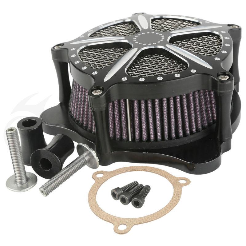 TCMT Мотоцикл с ЧПУ контраст Cut скорость 5 Воздухоочиститель для Harley Touring Street Electra Glide черный
