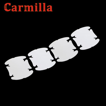 Carmilla Car Door Handle Scratches Auto Protective Vinyl Films Sticker for Peugeot 2008 206 207 307 308 407 408 3008 508 image