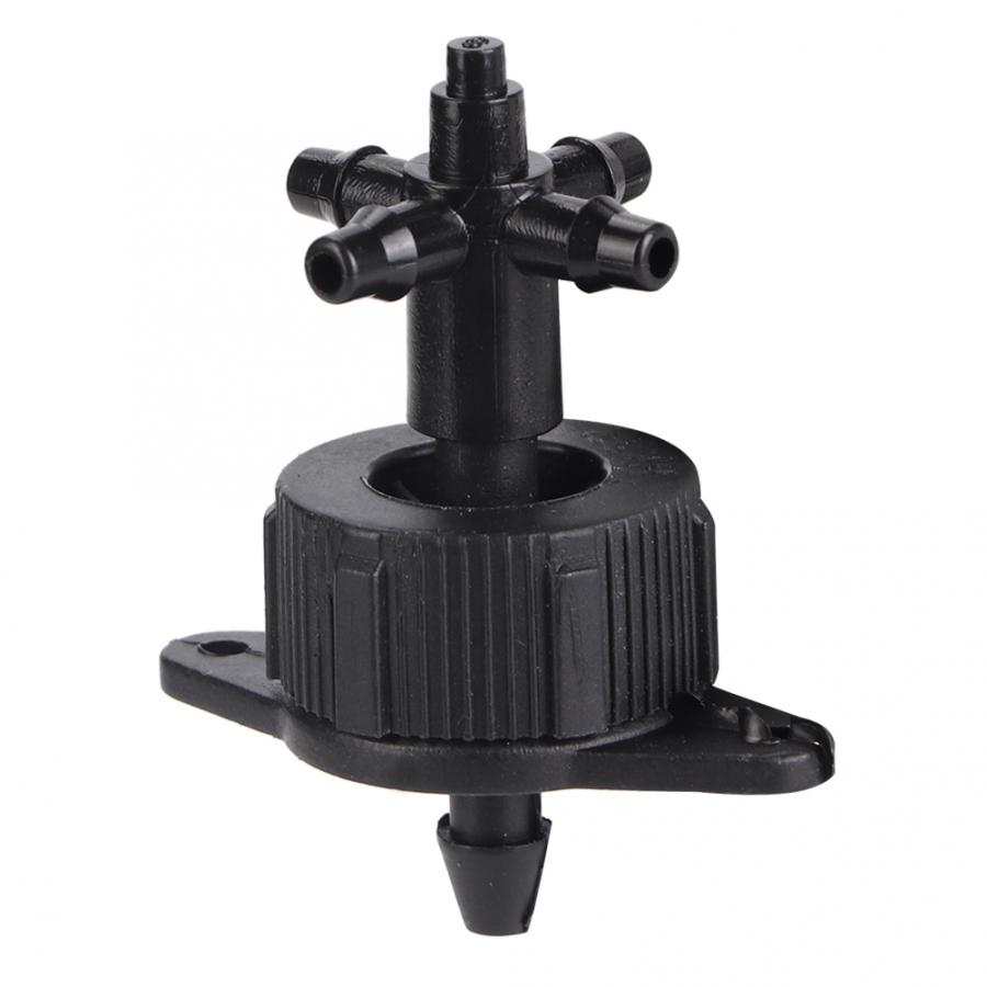 100PCS Plastic Flat Head 3/5 Drip Irrigation Connector Barbed Hose Connector Garden Drip Irrigation Sprinkler