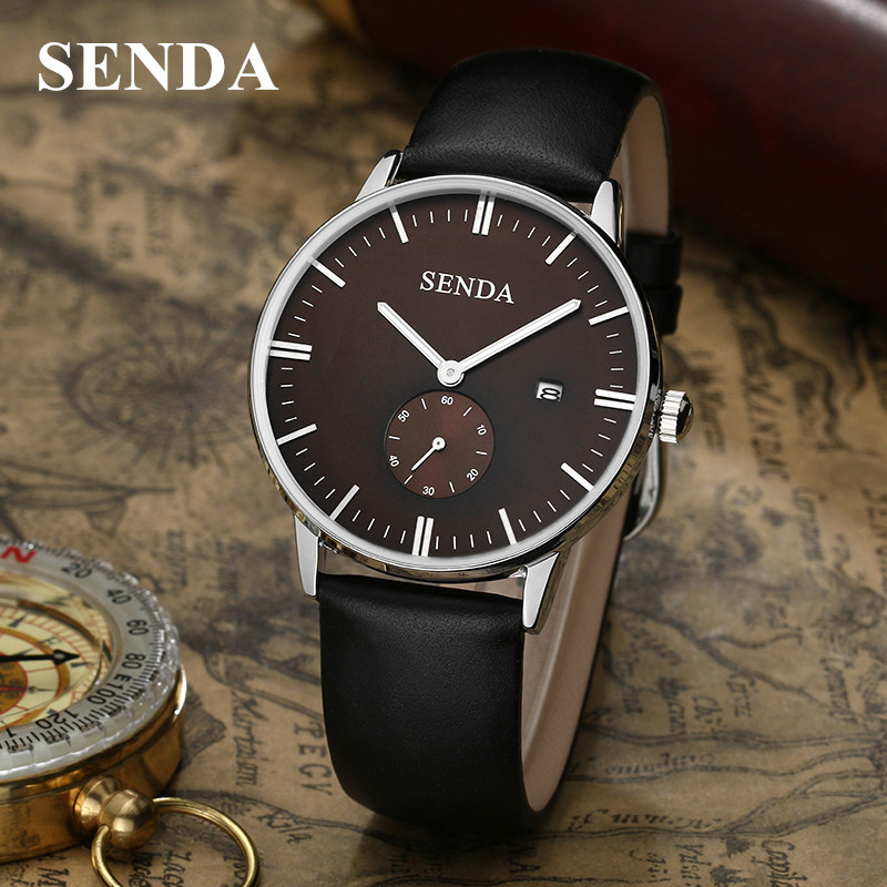Montre Mens Watches Top Brand Luxury SENDA Business Quartz Watch reloj hombre Men Sport Waterproof Clock relogio erkek kol saati top brand gold watches men classic business wrist watch fashion casual clock waterproof quartz watch reloj hombre montre homme
