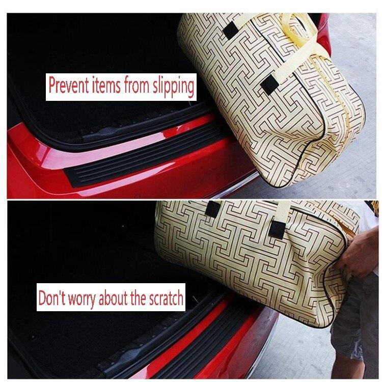 car Rear trunk rubber strip styling Prevent car scratches. for AUDI a1 a3 a4L a4 a5 a6 b8 c5 c6 b7 a6L a7 a8L S5 S a8 S8 Q3