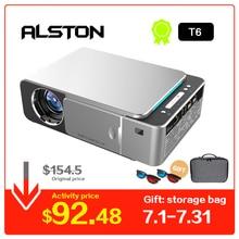 ALSTON T6 полный светодиодный hd-проектор 4 k 3500 люмен HDMI USB 1080 p портативный проектор фильмов Beamer с загадочным подарком