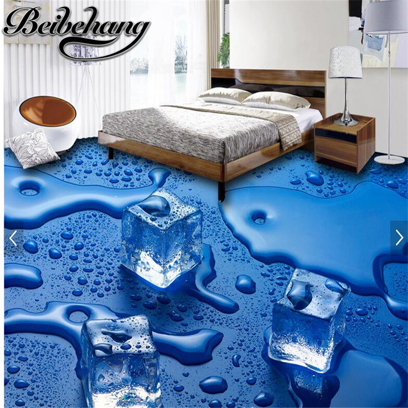 beibehang Room high-grade waterproof and oil-proof according to the width of the length of custom ice cubes 3D floor tiles электрокастрюля according to the spirit