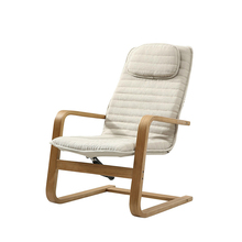 High Quality Wood Sun Loungers Outdoor Beach Chair Comfortable Leisure Balcony Chair Soft Household Furniture