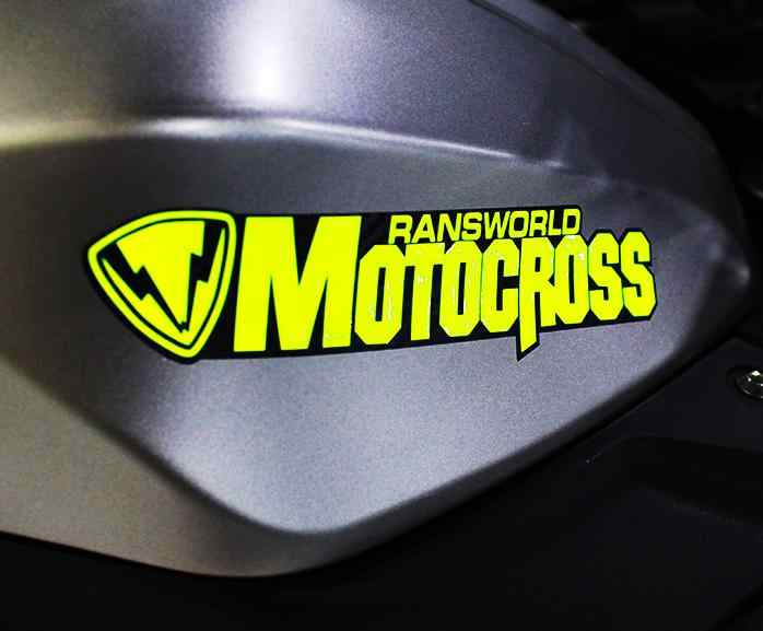 Nieuwe Reflecterende Motocross Sticker Ransworld Motorfiets Stickers Racing Decals Sbk Auto Sticker, Atv Stickers